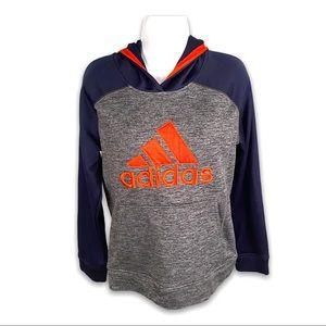 Adidas Boys XL Camo Grey Blue & Orange Hoodie*